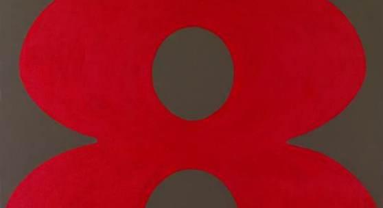 "Robert Clark Indiana (geb. 1988) ""Eight"", 1965, Öl/Leinwand, 61,3x61,3 cm, erzielter Preis € 317.500 Fotonachweis: Dorotheum"