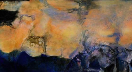 Zao Wou-Ki, Juin-Octobre 1985, oil on canvas (triptych), 280 x 1000 cm, 1985, estimate upon request