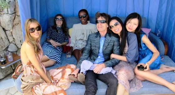 Jean Pigozzi Dasha Zhukova, Shyla Monroque, Mick Jagger, Wendi Deng and Xin Li, 2011 Villa Dorane, Antibes © Jean Pigozzi courtesy IMMAGIS Galeri