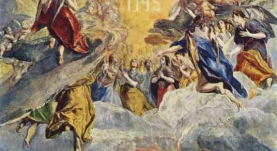 "Greco, El  Traum Philipps II Renaissance   Das Gemälde ""Traum Philipps II"" von Greco, El als hochwertige, handgemalte Ölgemälde-Replikation. Originalformat: 139 x 109 cm. Bildmaterial: www.oel-bild.de"