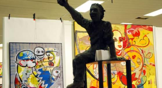 ((Bild DSC 0968; Bildnachweis: Messe Sindelfingen)): Der Pflichttermin für Picasso-Freunde: Die Lesung des Berliner Autors Boris Friedewald auf der Antik & Kunst.