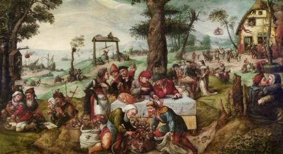 Frans Verbeeck (um 1510 - 1570) Der Narrenhandel, Öl auf Leinwand, 135 x 188 cm erzielter Preis € 3.035.000  WELTREKORD