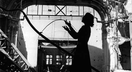 Lee Miller  Irmgard Seefried, Opera singer singing an aria from ?Madame Butterfly', Vienna Opera House, Vienna, Austria, 1945 © Lee Miller Archives, England 2014. All rights reserved.