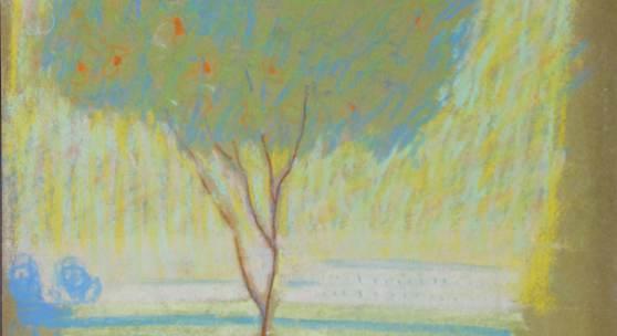 """Nr. 106  August Macke (1887 - 1914) - Pastell auf braunem Zeichenkarton, """"Korallenbäumchen, verso drei Selbstportraits""""   • Kategorie: Gemälde   • Limit: 22.500,00 EUR"""