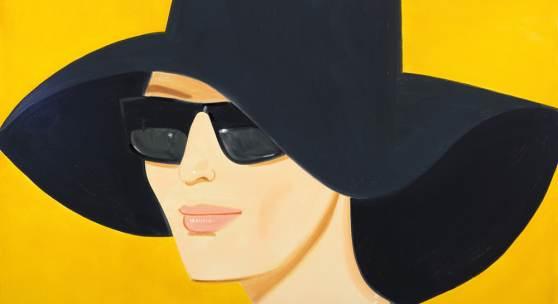 Alex Katz Black Hat 2, 2010 Albertina, Wien - Sammlung Batliner © Bildrecht, Wien, 2016