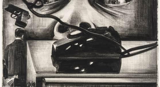 Marcel van Eeden The Death of Matheus Boryna (Detail), 2007 Zyklus von 38 Zeichnungen Nerostift (und Buntstift) auf Papier 19,1 x 27,9 cm Kunstsammlungen Chemnitz Schenkung Céline, Heiner und Aeneas Bastian Foto: Kunstsammlungen Chemnitz/László Tóth © Marcel van Eeden, Courtesy Barbara Seiler, Zurich and Sprüth Magers, Berlin/London