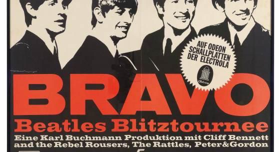 "The Beatles ""Bravo Blitztournee 1966"", Deutschland Originalplakat, 84 x 60 cm Rufpreis € 800"