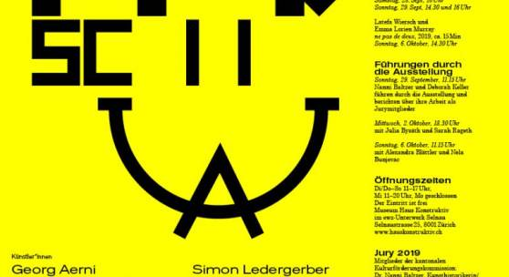 Plakat: WERKSCHAU 2019  Fachstelle Kultur Kanton Zürich