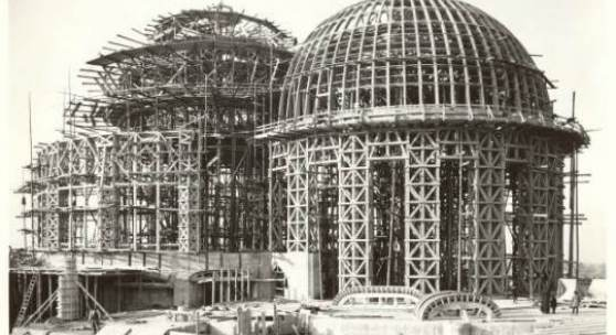 Baustelle des Ersten Goetheanum, 1914 © Rudolf Steiner Archiv, Dornach