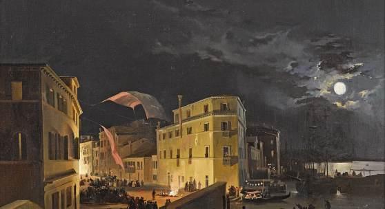 Lot 1117 Ippolito Caffi (1809 - 1866)  Venedig, Nachtfest auf der Via Eugenia,  Öl auf Holz, 52 x 66 cm  erzielter Preis € 161.000
