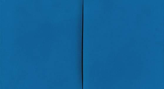 Lucio Fontana (1899 - 1968) Concetto spaziale, Attesa, 1967/68, Acryl auf Leinwand, 46 x 55 cm  Schätzwert € 600.000 - 800.000  Auktion 1. Juni 2016