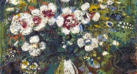 Marc Chagall (1887 - 1985) Fleurs, 1924, Öl/Leinwand, 72 x 57 cm  erzielter Preis € 1.022.500