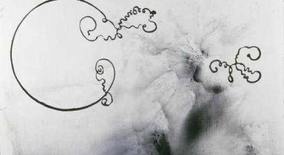 SIGMAR POLKE Experientia/Solertia, 1986  Leinwand, Lack, 200 x 190 cm  Bayerische Staatsgemäldesammlungen, Sammlung Moderne Kunst in der Pinakothek der Moderne, München © The Estate of Sigmar Polke, Cologne / VG Bild-Kunst, Bonn 2017