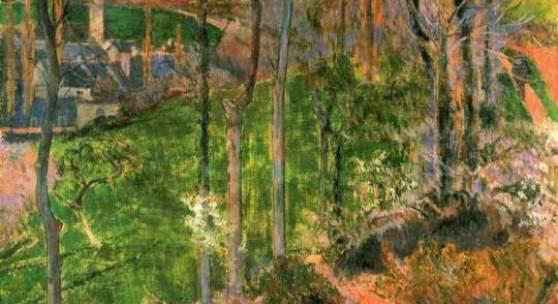 """Gauguin, Paul  Kleiner Bretone, den Holzschuh richtend Impressionismus  Das Gemälde """"Kleiner Bretone, den Holzschuh richtend"""" von Paul Gauguin als hochwertige, handgemalte Ölgemälde-Replikation.  © www.oel-bild.de"""