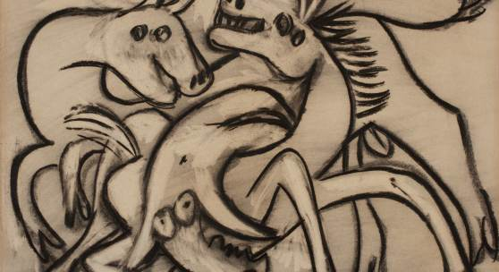 Pablo Picasso Women and Horses (Combat de taureau et cheval) 1935 Estimate $1.5/2.5 million