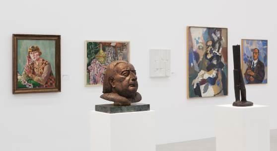 Ausstellungsansicht / exhibition view Wir Wegbereiter. Pioniere der Nachkriegsmoderne / We Pioneers. Trailblazers of Postwar Modernism, mumok, Wien, 12.5.2016 – 5.3.2017 Photo: mumok / Lisa Rastl