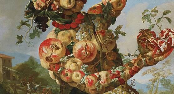 Giovanni Paolo Castelli, Lo Spadino (1659 - ca. 1730), Allegorie des Frühlings, des Sommers, des Herbstes und des Winters, Öl auf Leinwand, je 131 x 94 cm erzielter Preis (für 4) € 430.742
