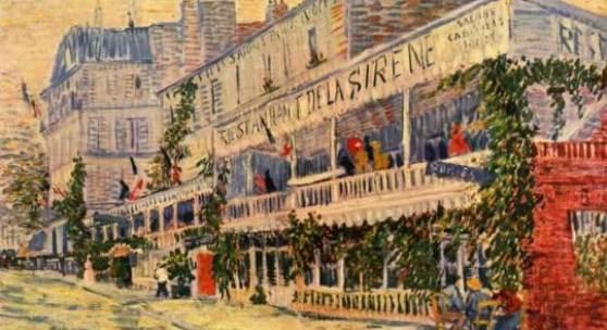 """Gogh, Vincent Willem van  Das Restaurant de la Sirene in Asnieres Impressionismus   Das Gemälde """"Das Restaurant de la Sirene in Asnieres"""" von Vincent Willem van Gogh als hochwertige, handgemalte Ölgemälde-Replikation. Originalformat: 54 x 65 cm"""
