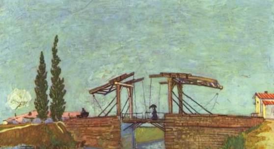 Gogh, Vincent Willem van Die Anglois Bruecke bei Arles (Die Zugbruecke). Bildmaterial: www.oel-bild.de