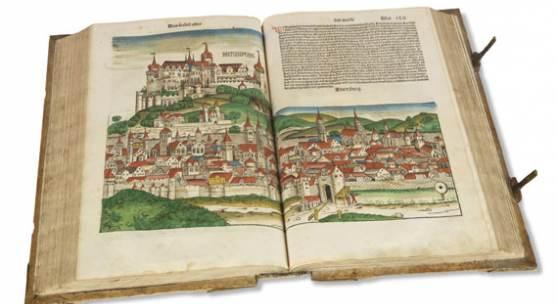 Hartmann Schedel Das Buch der Chroniken und Geschichten, Nürnberg 1493 Aufruf: € 95.000 - Erlös: 147.600*