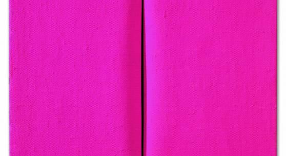 Lucio Fontana, Concetto Spaziale, Attesa, 1964/65, Dispersionsfarbe auf Leinwand, 46 x 38 cm, erzielter Preis € 552.000