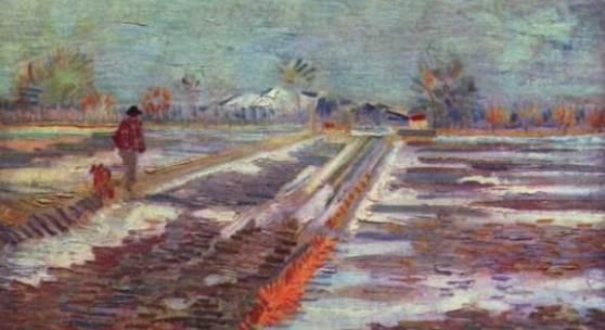"""Biographie Vincent van Gogh """"Schneebedeckte Felder vor Arles"""" Quelle: www.oel-bild.de"""
