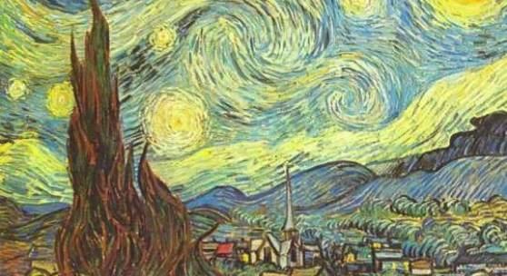 """Gogh, Vincent Willem van  Sternennacht Impressionismus   Das Gemälde """"Sternennacht"""" von Vincent Willem van Gogh als hochwertige, handgemalte Ölgemälde-Replikation. Originalformat: 73 x 92 cm"""