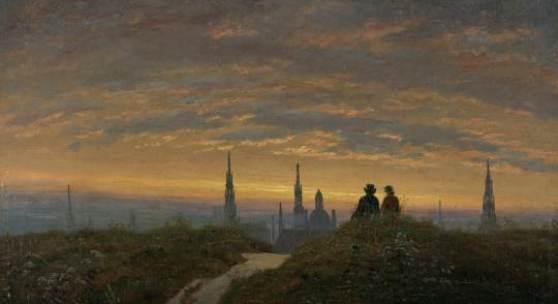 Carl Gustav Carus, Blick auf Dresden bei Sonnenuntergang, um 1822 © Kunstsammlungen Chemnitz