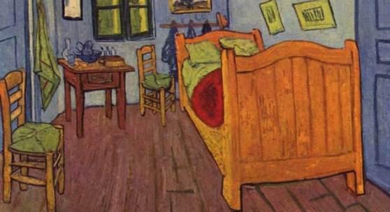 """Gogh, Vincent Willem van  Vincents Schlafzimmer in Arles Impressionismus   Das Gemälde """"Vincents Schlafzimmer in Arles"""" von Vincent Willem van Gogh als hochwertige, handgemalte Ölgemälde-Replikation. Originalformat: 72 x 90 cm. Quelle: www.oel-bild.de"""