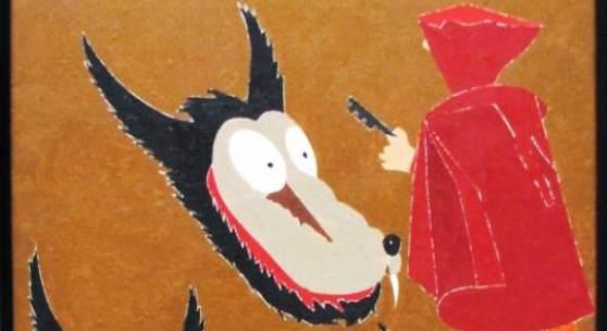 Eduardo Arroyo, Rotkäppchen, 2007, Öl auf Leinwand/oil on canvas, 55,5 x 46, 3 cm