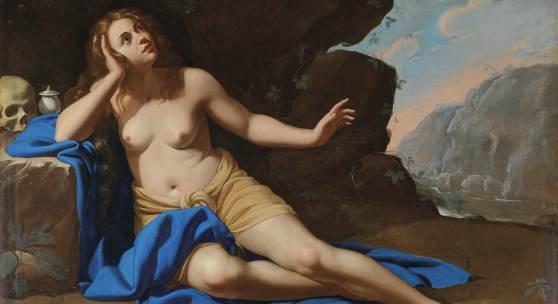 Artemisia Gentileschi (1593 - 1653) unter Assistenz (im Hintergrund) von Onofrio Palumbo (1606 - 1656?) Maria Magdalena in Ekstase, Öl auf Leinwand, 129,8 x 180,4 cm, Auktion 30. April 2019, Schätzwert € 400.000 - 600.000