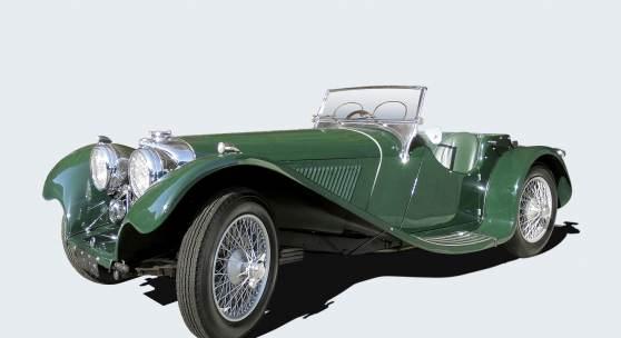 1938 S.S. 100 Jaguar 2 1/2 Litre, einer von 198 zweieinhalb Liter S.S. Jaguar 100, erzielter Preis 339.000