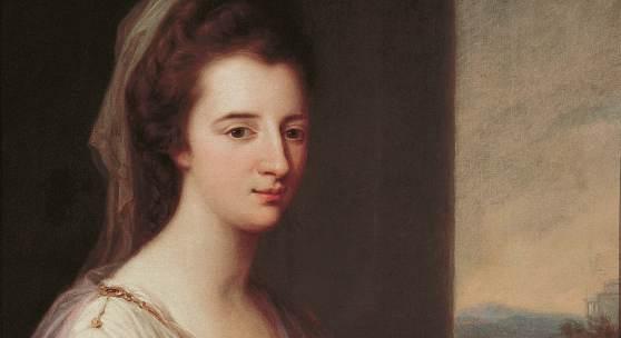 """""""Lady Henrietta Williams-Wynn"""" von Angelika Kauffmann; Leihgabe des vorarlberg museum, Bregenz Foto: Markus Tretter, vorarlberg museum"""