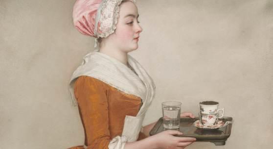 ean-Étienne Liotard, Das Schokoladenmädchen, um 1744-45 Pastell auf Pergament, 82,5 x 52,5 cm © SKD, Foto: Herbert Boswank Bildquelle: Staatliche Kunstsammlung, Dresden