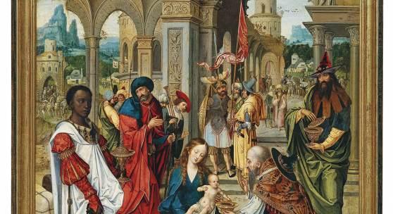 Pieter Coecke van Aelst (Aelst 1502 - 1550 Brüssel) Anbetung der Könige, 112 x 75 cm, erzielter Preis € 1.137.800