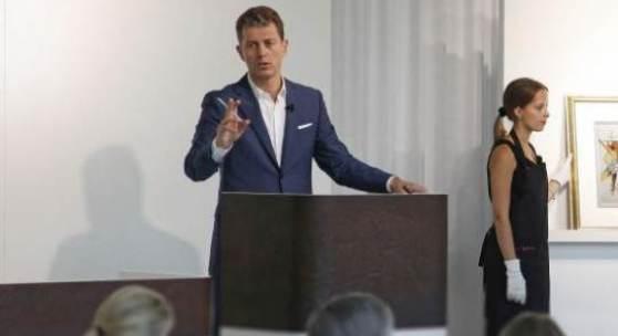 """Auktionator Robert Ketterer versteigert Wassily Kandinskys """"Gewebe"""" für den Erlös von € 1.320.000*"""