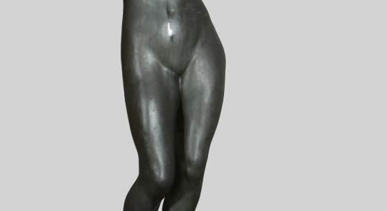 00194 Arthur Lewin-Funcke, sig., dat. 1922 Niedersedlitz 1866 – 1937 Berlin, 'Im Frühwind (Tanzender Mädchenakt)',