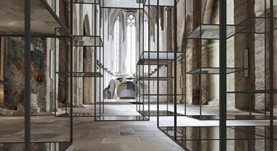 Eva Schlegel, Visualisierung der Ausstellung in der Dominikanerkirche 2018,  Courtesy Galerie Krinzinger, Wien © Eva Schlegel/Bildrecht, 2017