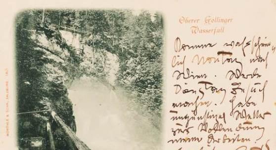 Postkarte von Gustav KLimt an Julius Zimpel, 31.08.2013 © Privatbesitz