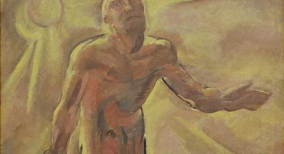 Benno Berneis Schreitender Mann, um 1912 (c) Berlinischen Galerie