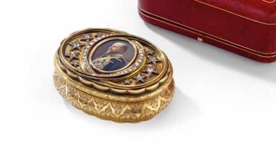 Höfische Präsentationsdose des Königs Ferdinand I. von Bulgarien. - Auktionshaus Michael Zeller (Ausrufnummer 2156, Limit 28.000 Euro)