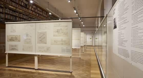 [23]–[26] MAK-Ausstellungsansicht, 2018 GUSTAV PEICHL. 15 Bauten zum 90sten MAK-Kunstblättersaal © MAK/Georg Mayer