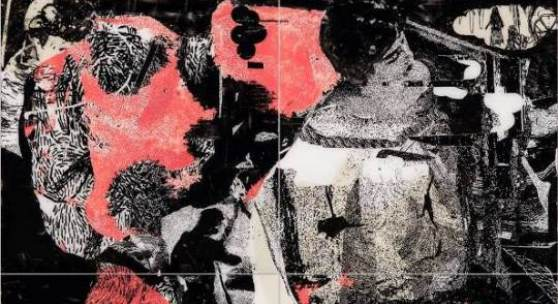 Oliver Dorfer dystopia 2, 2014 acrylic on acrylic glass, 200 x 200 cm (4-parts)