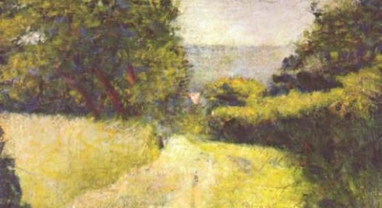 """Seurat, Georges Le Chemin creux Impressionismus Das Gemälde """"Le Chemin creux"""" von Georges Seurat. Bildnachweis: www.oel-bild.de"""