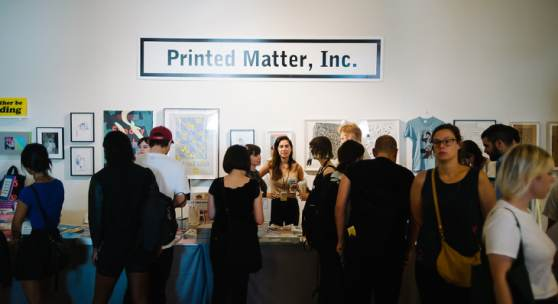 Printed Matter Inc.'s booth at NYABF14. Photo courtesy BJ Enright Photography.