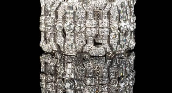Bedeutendes Art-Déco Diamantenarmband, wohl Frankreich, um 1920/30, mind. 48 ct., Limit 20.000€