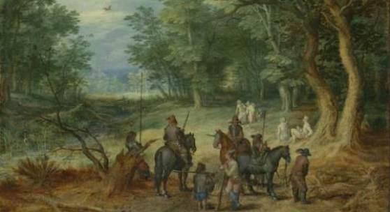 Jan Brueghel d. Ä., Feldwache in einer Lichtung, Gemäldegalerie Alte Meister Kassel