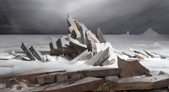 James Casebere Sea of Ice, 2014 archival pigment print, 96 x 126 cm, Edition of 5 with 2 artist's proof,  Collection of Santiago Sepulveda and Gloria Cortina, Vail, CO Courtesy: the artist and Sean Kelly, New York