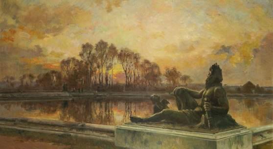 3171 BENOIS, Alexandre zugeschrieben (1870 Sankt Petersburg - 1960 Paris) Im Schlosspark von Versailles Limit 240 € Zuschlag 15000,00 €