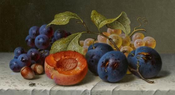 Emilie Preyer (1849 – 1930)  Früchtestillleben | Öl auf Leinwand | 17,5 x 23cm Schätzpreis: 20.000 – 25.000 €